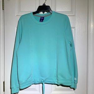Nike Women's Drawstring Sweatshirt Blue Large